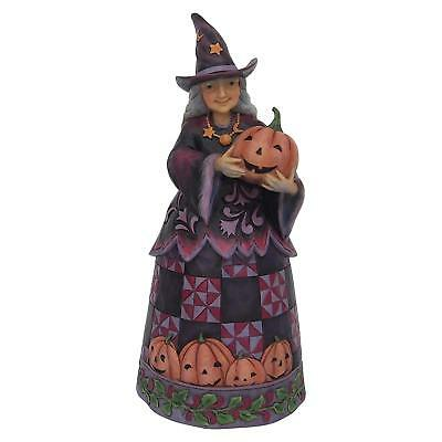 Jim Shore HWC ~ Halloween Figurine ~ Witch with Pumpkin ~ 6001547 NEW for 2018