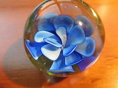 50 mm  Art Glass Paperweight Ball,Flower, in excellent condition