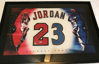 ee9ad63e8759 Michael Jordan Signed Autographed Uda Jersey Numbers Framed Display Upper  Deck