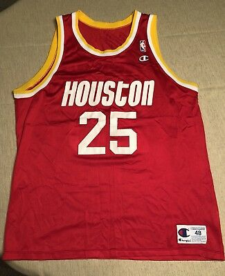 d7b23e20ba19 ... greece vintage houston rockets robert horry champion jersey size 48  597e2 6b2f7
