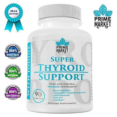 Thyroid Support Supplement with Iodine for Hypothyroidism | Natural Complex for