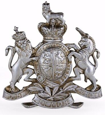 Royal coat of Arms Extra Large Pewter SILVER coat of arms resin Crest