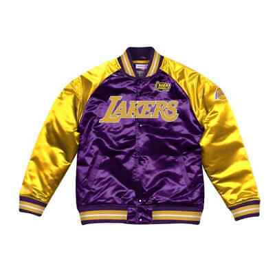 Authentic Los Angeles Lakers Mitchell & Ness NBA Tough Season Satin Jacket Black