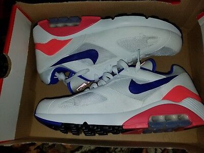 Details about Nike Air Max 180 OG ULTRAMARINE WHITE SOLAR RED BLUE 615287 100 sz 8.5 ORIGINAL