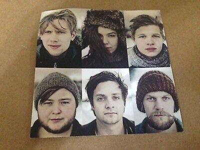 Of Monsters And Men Sticker My Head Is An Animal cd & vinyl lp record promo NEW!