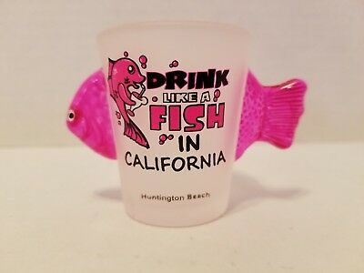 Drink Like A Fish In California 3D Shot Galss - Pink