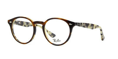 f53cfb4214e4e RAY-BAN RB 2180-V 2000 Shiny Black Authentic RX Eyeglasses Frames 47 ...