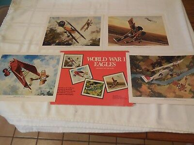 World War One Aircraft of the Aces Prints. 11 by 8 1/2 inches.