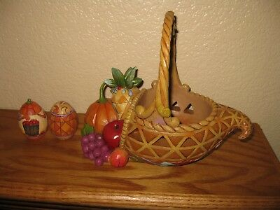 """Jim Shore Heartwood Creek """"Bounty Of Blessings"""" 4031690 Thanksgiving Decoration"""