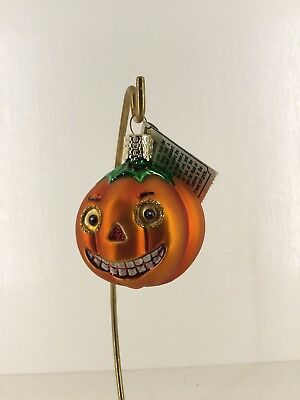 Old World Christmas Pumpkin Vintage Style Halloween Ornament