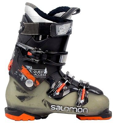 Used High End $430 Mens Salomon Quest Access 770 RARE Black Orange Ski Boots