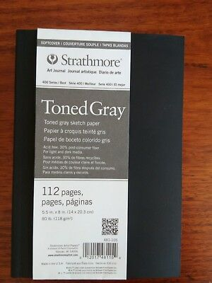 Strathmore 400 Best series Toned Grey softcover art journal 14 x21.5 cm 112pg