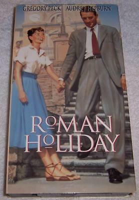 Roman Holiday VHS Video Gregory Peck Audrey Hepburn