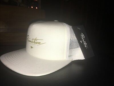 20a54e8eeaa8c New Primitive Skateboard Classic P Mens Unisex Snapback Hat One size Fit -  WHITE