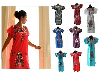 e15e6c2a984e3 ASSORTED MEXICAN DRESS CROCHET Embroidered PEASANT Vintage ONE SIZE Fits M- XL.  49.99 Buy It Now 14d 0h. See Details. NEW Embroidered Pueblo Peasant  Hand ...