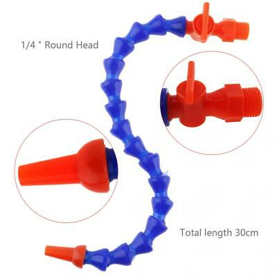 1/4'' 300mm Round Nozzle Plastic Flexible Water Oil Cooling Tube for CNC Milling