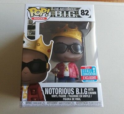 The Notorious B.I.G. NYCC 2018 Shared Exclusive Pop! Vinyl **Damaged Box**