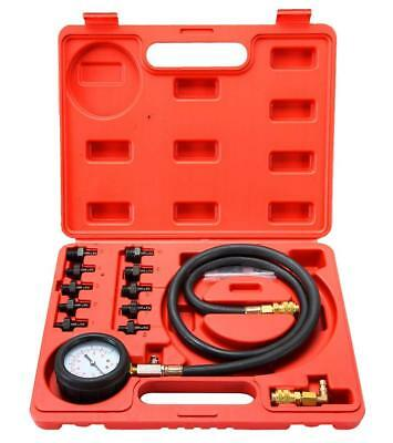 Automatic 12pcs Engine Cylinder Oil Pressure Diagnostic Tester Tool Set US Ship