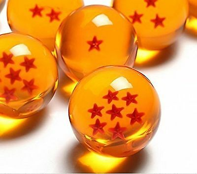 Dragonball Acrylic Dragon Ball Z Stars Crystal Glass 7 Pcs New Set Box Large
