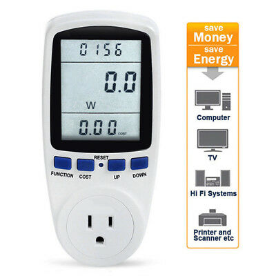 US Power Energy Consumption Watt Meter Electricity Usage Test Equipment US Plug