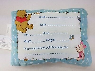 Disney Baby Sincerely Pooh Breezy Afternoon Keepsake Birth Announcement Pillow