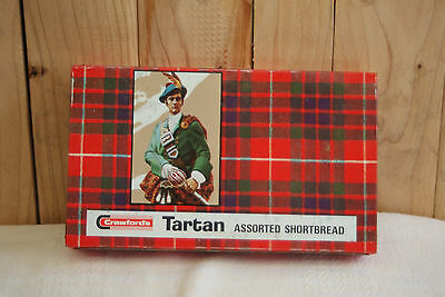 Vintage CRAWFORDS ASSORTED BISCUIT TIN Tartan Shortbread collectable tins
