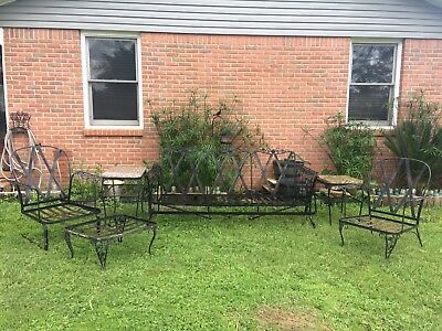 Woodard Chantilly Rose wrought iron Outdoor Furniture Vintage Set