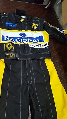 F1 Racing Ayrton Senna 1985 printed suit