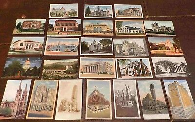 Lot of  25 Postcards (Lot 216) 90 - 100+ Year Old Buildings, Architecture Unused