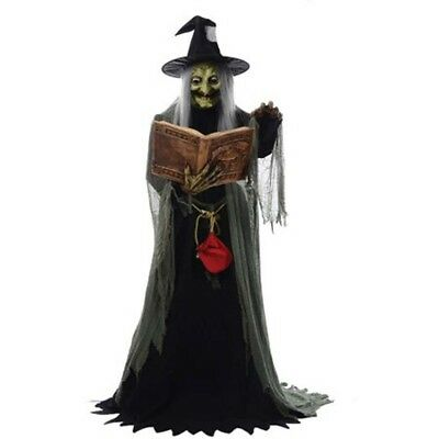 Speaking Witch Haunted Animated Spell Prop House Lifesize Talking Life Halloween