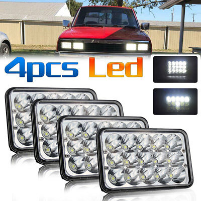 4x6''LED Headlight Fit for Kenworth T400 T600 W900B Classic 120/132 W900L Buick