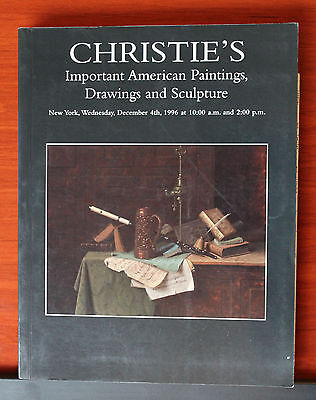 Christie's Important American Paintings, Drawings and Sculpture New York 1996 PB