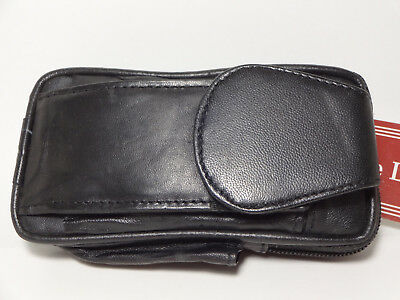 Western Express Black Leather Cigarette Case w/Side Lighter Slot-B.Loop-#MIN-154