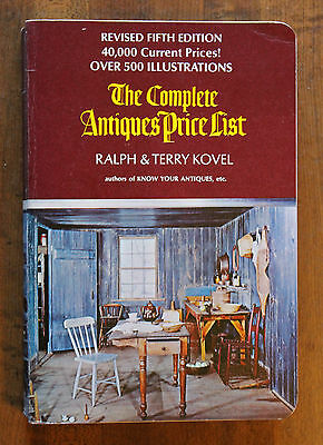 The Complete Antiques Price List by Kovel 1973 PB 40,000 prices & 500 Illustrat