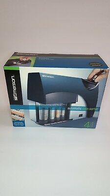 Emerson Automatic Coin Bank Sorter Machine Use Money Sorting, Wrapping, Counter