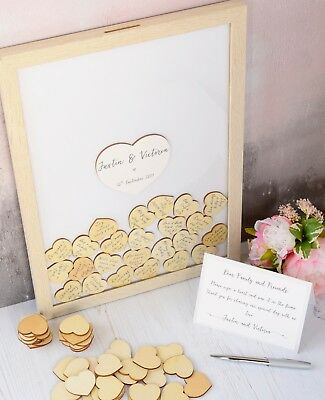 Wedding Guest Book frame. Personalised Drop Top Frame. Alternative Guest Book .