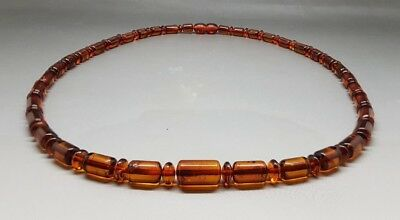 "18,9"" Beautiful Genuine Baltic Amber Necklace for Men/Woman Cognac"
