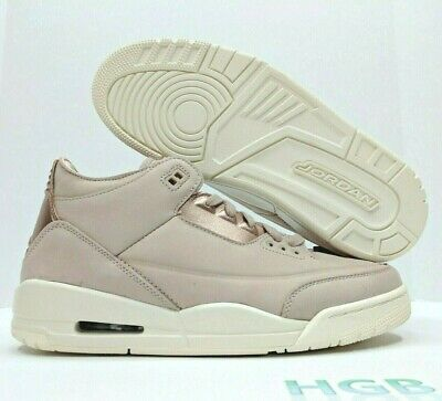 big sale 6a151 6f59d Nike Air Jordan 3 Retro SE III Womens Particle Beige White AH7859-205 Suede  NIB