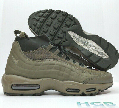 timeless design a4dae a14fe Nike Air Max 95 Sneakerboot Mens Green Olive Sneakers Training 806809-202  NIB