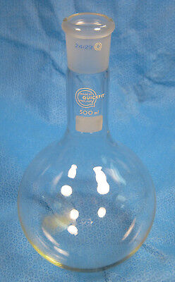 Quick-Fit  500 Ml  Round  Bottom  Flask  24/29  Long  Neck           M