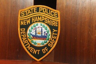 New Hampshire State Police Department of Safety Patch Free US Ship