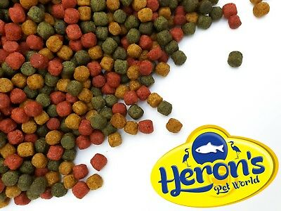 HERONS Koi Trio Pellets 3mm 6mm PREMIUM POND FISH FOOD GOLDFISH 10g - 15kg
