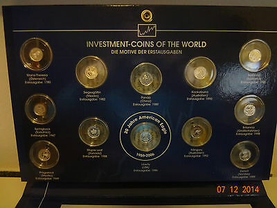 Investment Coins Of The World 2006; 12 Silbermünzen; Pp; 20 Jahre American Eagle