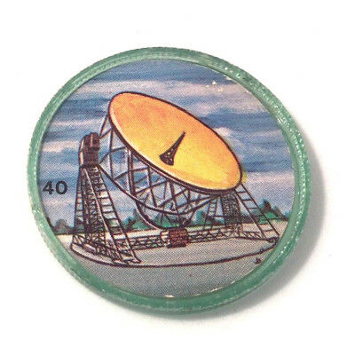 1960s Space Magic #40 Krun-Chee Potato Chips Coin Jodrell Bank Radio Telescope