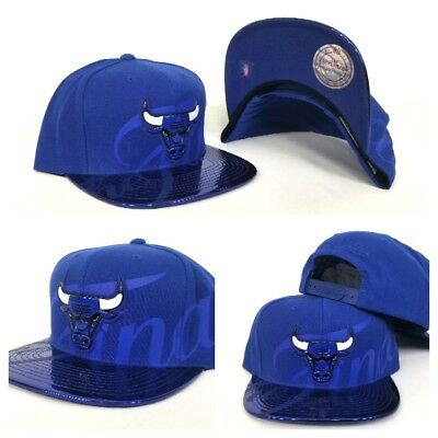 "Exclusive Mitchell & Ness NBA Royal Chicago Bulls ""The Finals"" snapback Hat Cap"