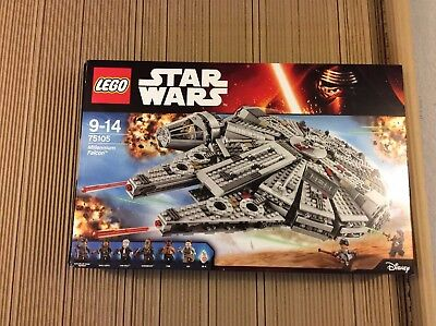 LEGO STAR WARS 75105 MILLENNIUM FALCON - THE FORCE AWAKENS - 100% complete