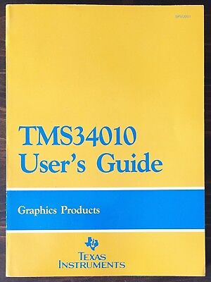 Texas Instruments TMS 34010 User's Guide Data Book 1986, Programmer's Ref Card