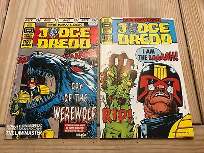 Judge Dredd Comics No.1 And No.2  In Lovely Condition