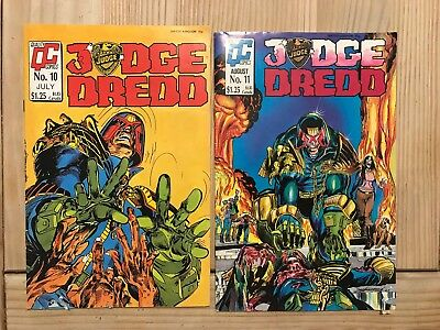 Judge Dredd Comics No.10 And No.11  In Lovely Condition