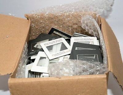 Box of approximately 287 pairs of Gepe 35mm Anti-Newton Glass Slide Mounts